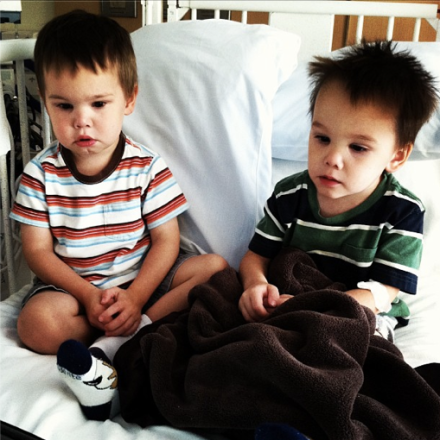 brother twins, at CHLA this morning